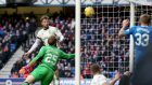 Inverness defender Brad McKay puts through his own net as Rangers take the lead at Ibrox