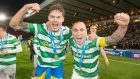 Celtic in a happy place says skipper Scott Brown, pictured right