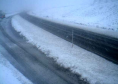 Heavy snow on the A9 this morning