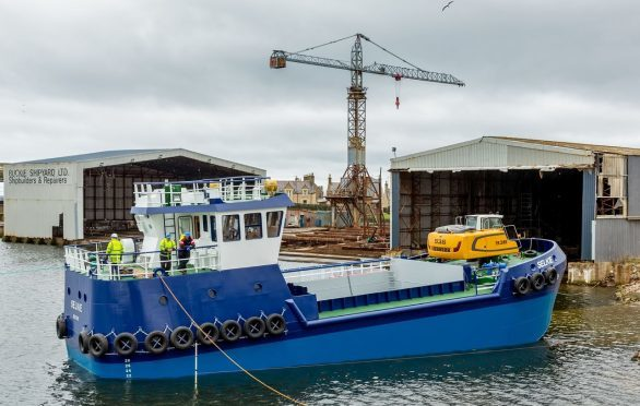 The Selkie was built by Buckie-based firm Macduff Shipyards.