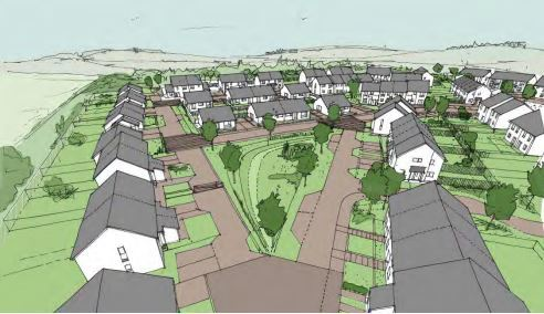 An impression of the Meadowbanks Road development.