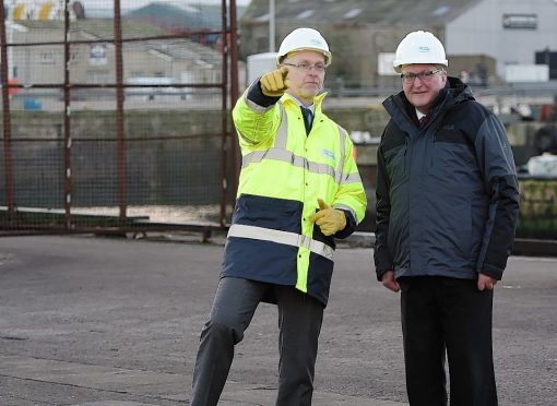 Fisheries Minister Fergus Ewing, right, with Peterhead Port Authority chief executive Ian Laidlaw.