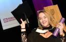 Gemma Crighton received her degree yesterday