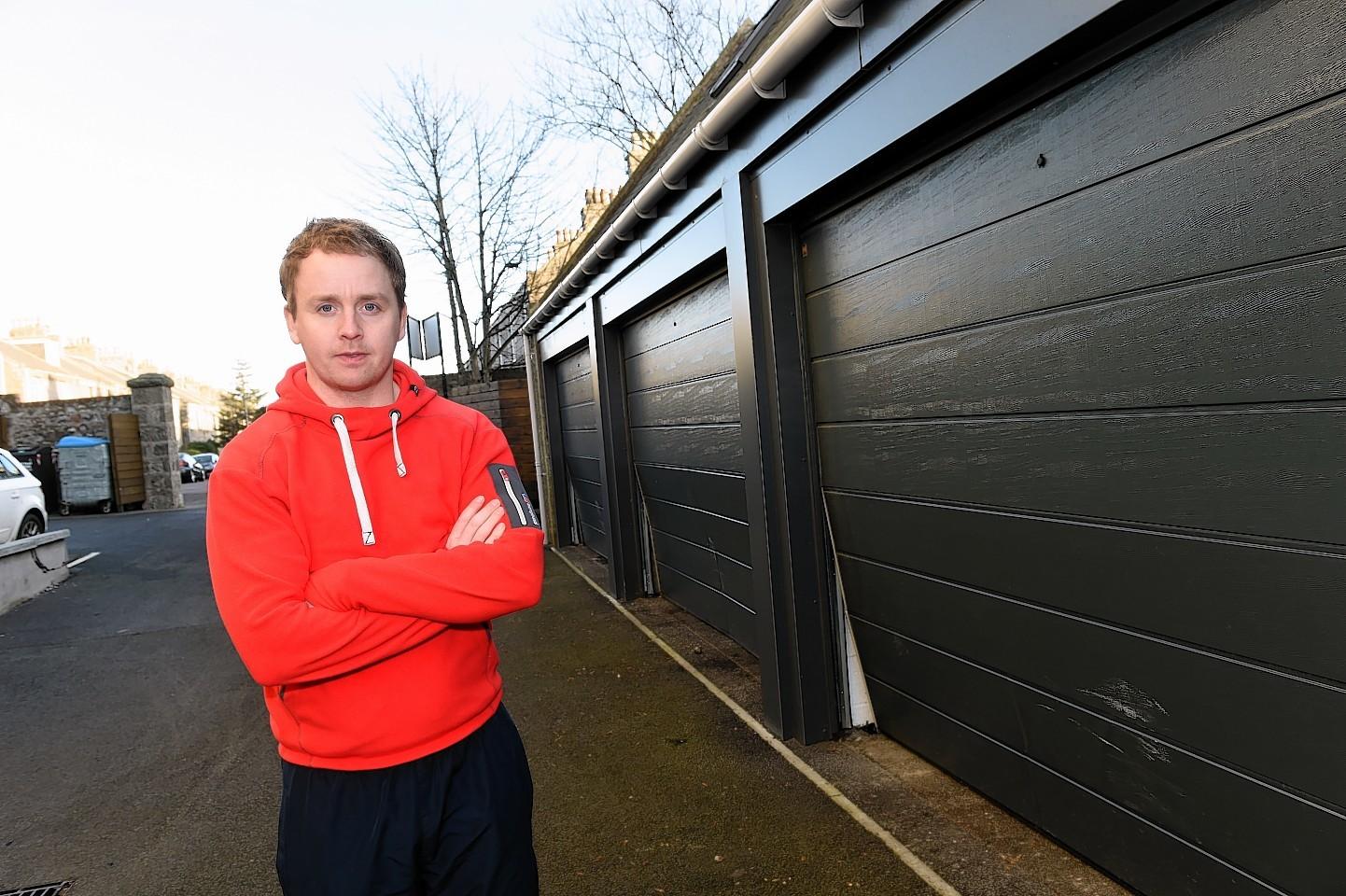 Thieves Ram Garage Doors With Car In Aberdeen Break In