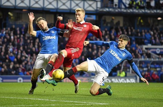 Jayden Stockley missed a great chance for the Dons
