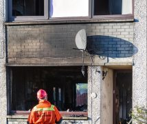 The scene of the fire in Seaview Road, Sandend