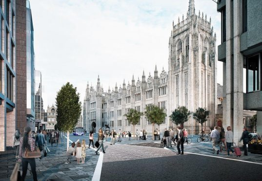 Artist impression of the plan for Broad Street