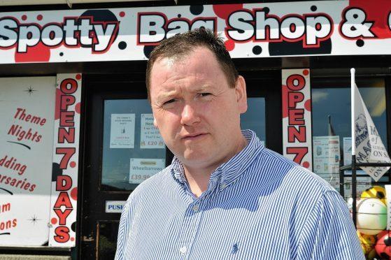 Banff's Spotty Bag shop owner Des Cheyne