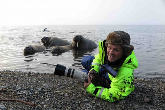 World-renowned wildlife photographer Doug Allan.
