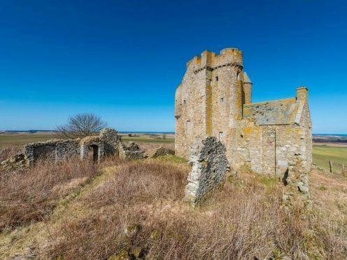 Inchdrewer Castle near Banff in Aberdeenshire.