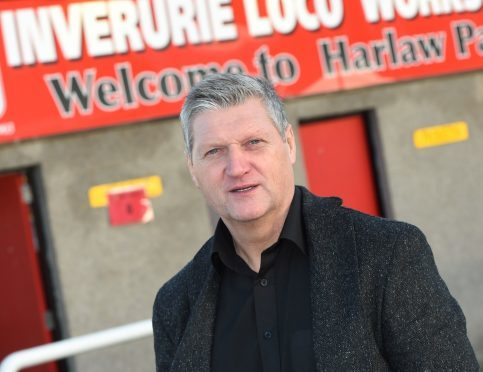 Inverurie Loco's new manager Neil Cooper