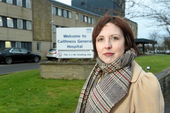 Nicola Sinclair, secretary of Chat, at Caithness General Hospital.