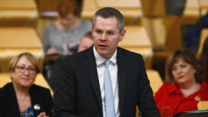 Finance Secretary Derek Mackay presented his draft budget to Parliament in December (Scottish Parliament/PA Wire)