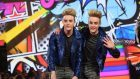 Jedward enter the Celebrity Big Brother house at Elstree Studios in Borehamwood, Herfordshire