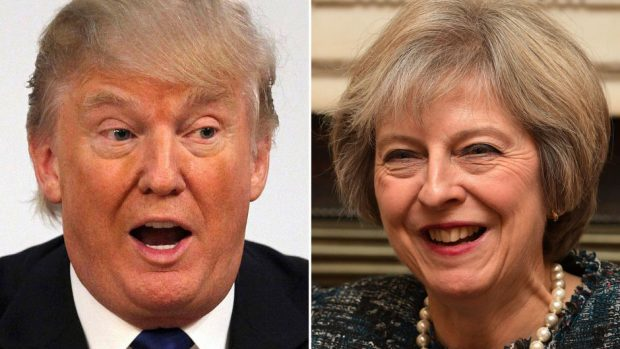 Donald Trump and Theresa May will discuss issues including trade at White House talks on Friday