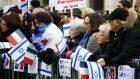 Pro-Israel demonstrators in Paris. (AP/Francois Mori)
