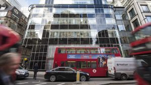 Goldman Sachs offices, London, as the group reported £1.91 billion net earnings for the three months to the end of December