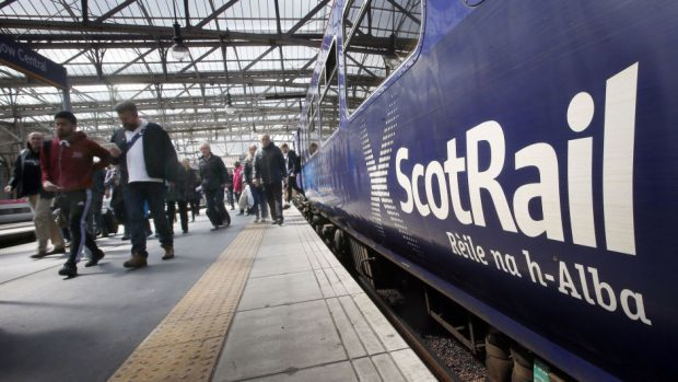 The abuse was thrown during a journey between Dundee and Aberdeen