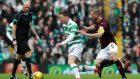 Callum McGregor, centre, opened the scoring for Celtic