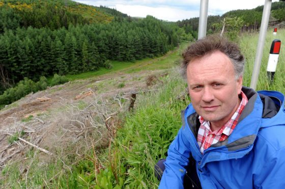 George Tulloch, secretary of Dufftown Community Council, has heard several complaints from locals about the bend on the B9014 at Parkmore Brae.