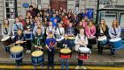 "A total of 38 young pipers and drummers attended the ""kick start"" rehearsal day of the Aberdeenshire Schools Pipe Band at Inverurie Town Hall yesterday."