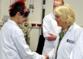 The Duchess of Rothesay met with Rowett Institute PHD student Natasha Falconer. Pictures by Colin Rennie.