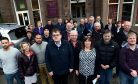 Stonehaven business owners who attended a meeting at The Belvedere Hotel to discuss rates rises.