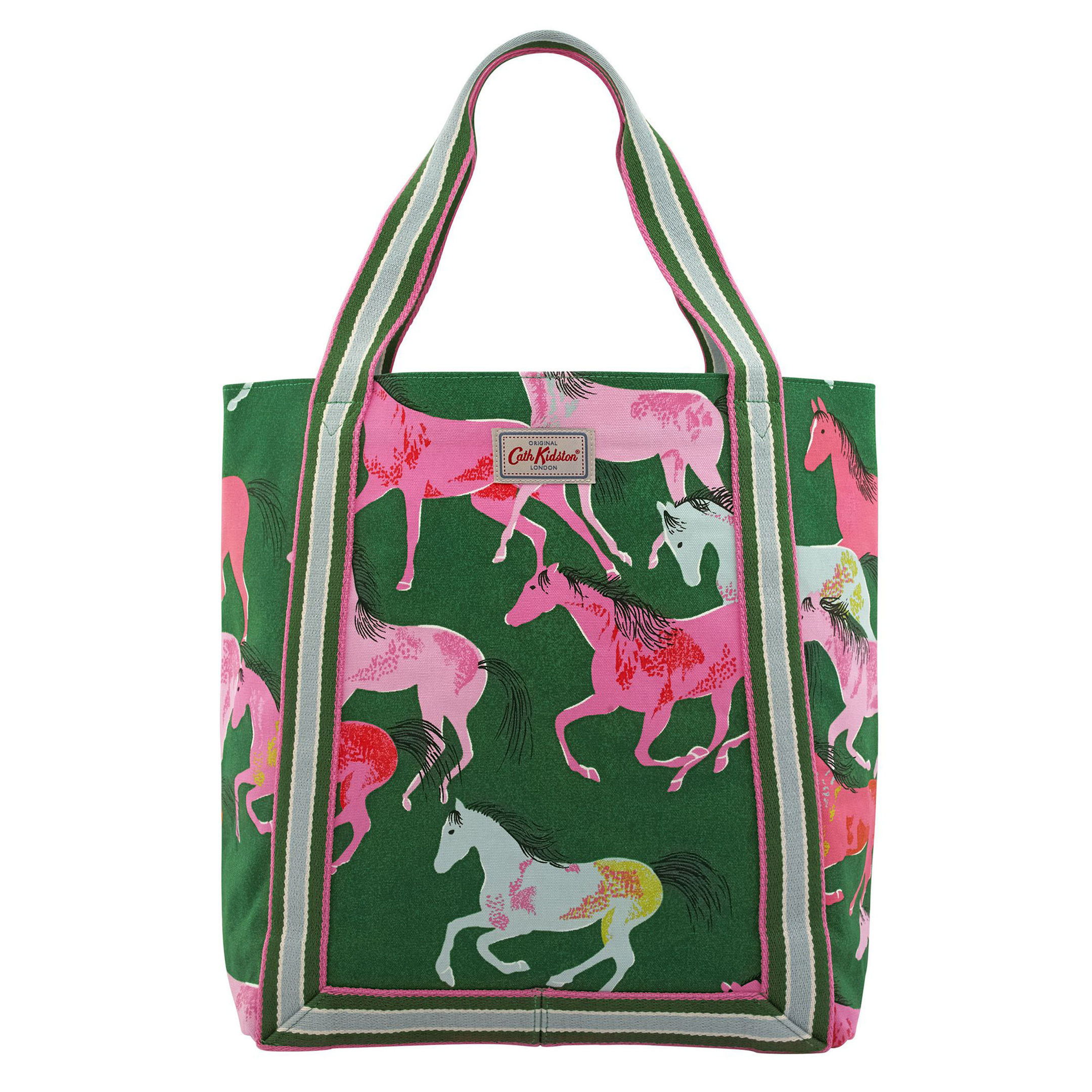 Undated Handout Photo of Painted Horses Reverse Coated Tote, available from Cathkidston.com. See PA Feature SHOPPING Prints. Picture credit should read: PA Photo/Handout. WARNING: This picture must only be used to accompany PA Feature SHOPPING Prints. WARNING: This picture must only be used with the full product information as stated above.