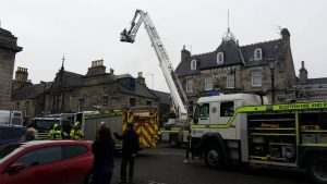 Scene of the fire in Huntly