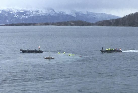 Those on board were hurled into the icy Arctic waters