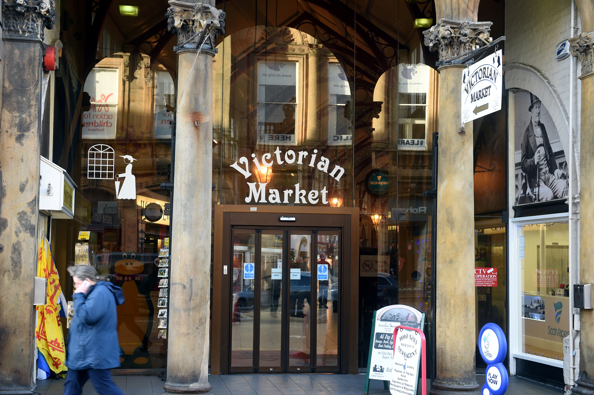 The Victorian Market, Inverness. Picture by Gordon Lennox 23/01/2016