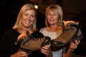 Jennifer Anderson and Avril Gray, has raised more than £80,000 for ARCHIE by climbing Kilimanjaro, walking the Great Wall of China, and more.  Picture of (L-R) Jennifer Anderson and Avril Gray.