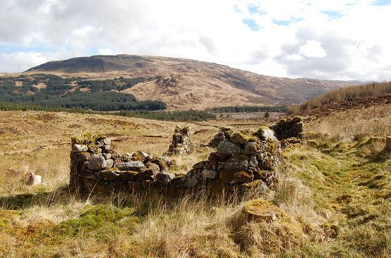 Remains of a colony house at Bennachie.
