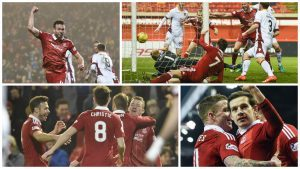 Pictures capture the excitement of the Dons 7-2 defeat of Motherwell