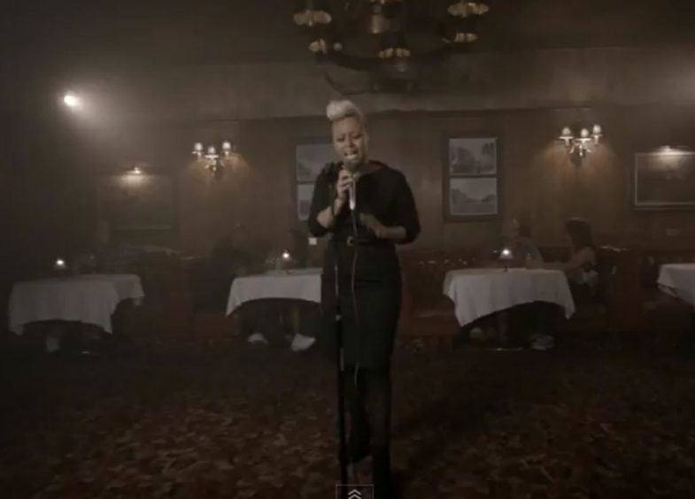 Screengrabs from Emeli Sande's new music video Daddy released in 2011.