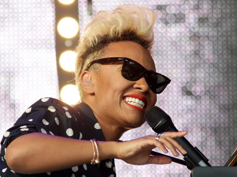 Emeli Sande on the Main Stage at T in the Park in 2013.