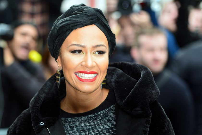 Emeli Sande arrives for the recording of the Band Aid 30 single in 2014.