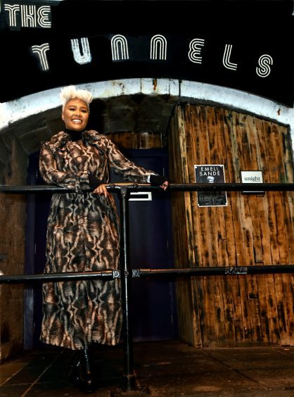 Emeli return to the Granite City last year for a gig at The Tunnels.
