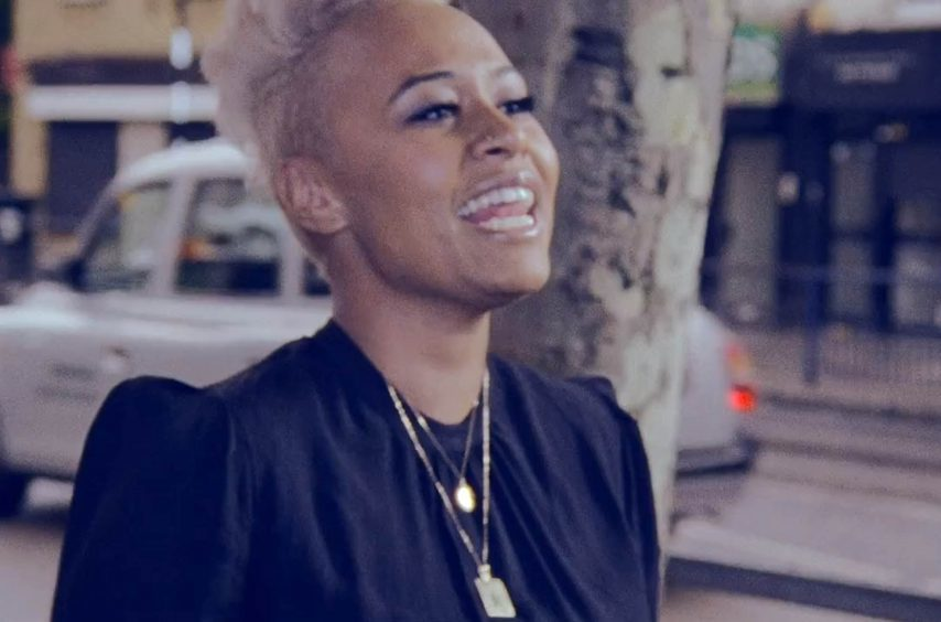 A screen grab from Emeli Sande's music video of Heaven released in 2011