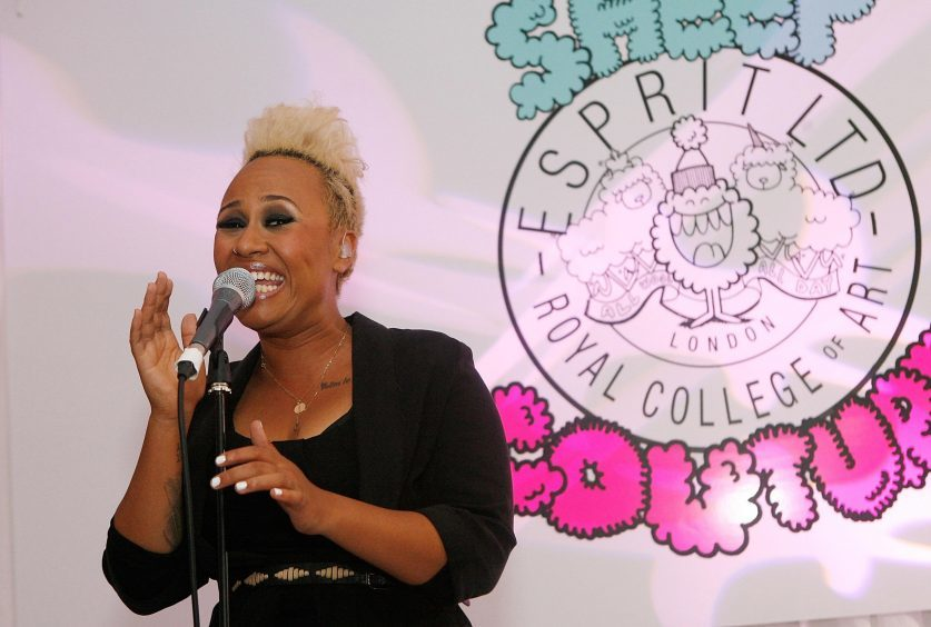 Emeli Sande performed at the Espirit RCA Collection Launch at Esprit in London in 2011.