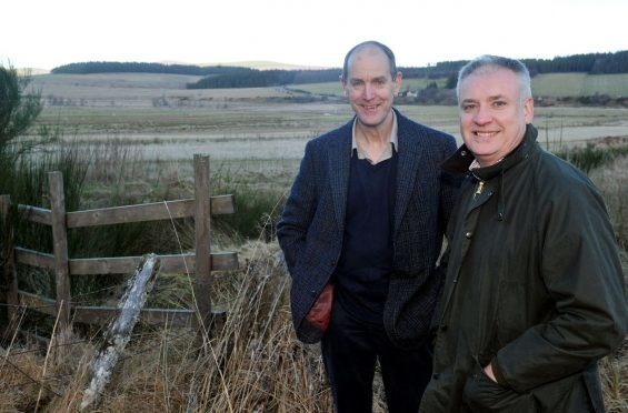 Andy Wells, head of property Crown Estates Scotland, and Richard Lochhead MSP on a visit to Glenlivet Estate near Tomintoul.