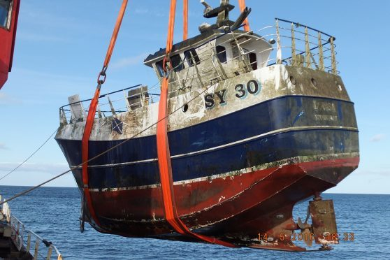 The fishing vessel Louisa