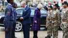 Charles and Camilla inspect a cadets' guard of honour in Brixton, south London