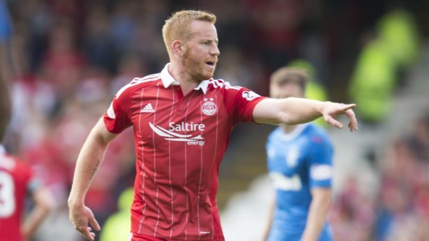 Aberdeen's Adam Rooney netted the game's opening goal.
