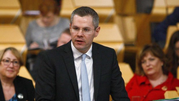 Finance Secretary Derek Mackay
