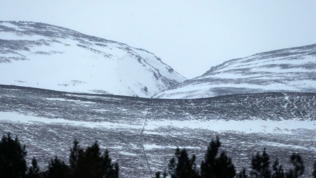 The Chalamain Gap area of the Cairngorms
