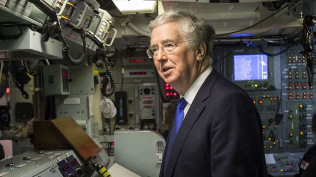 Sir Michael Fallon said the increased infrastructure spending reinforced the Ministry of Defence commitment to Scotland
