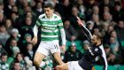 Celtic midfielder Tom Rogic, left, is out for a few months after an ankle operation