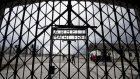 A copy of the gate in Dachau, Germany (Sven Hoppe/dpa via AP)