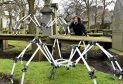 One of the installations Les Araignees (The Spiders) are going to be crawling around St Nicholas Kirkyard in Union Street later in the week. Pic by Colin Rennie.